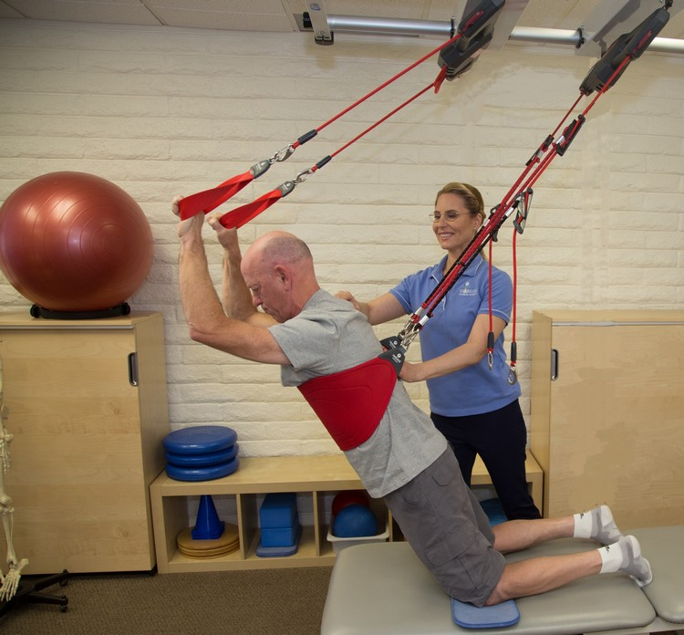 Stabilize Physical Therapy offers the Redcord method to activate muscles.